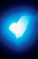 The Underwater Cave Of A Heart Shape