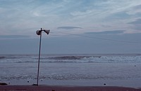 Loudspeakers At Beach