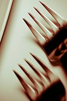 Close_up of forks