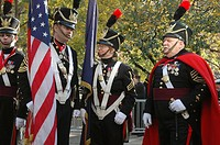 New York City USA, veterans in high uniform during the Veterans Day parade