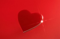 Love Heart With Reflection