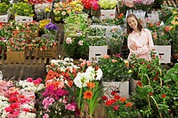 Female customer in flower shop