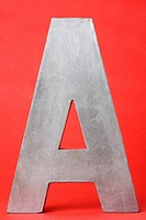 Letter A on red background