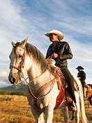 Two cowboys on horseback, Mexico