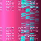 DNA autoradiogram, artwork