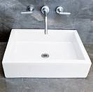 Faucets over a washbasin