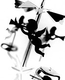 Änglaspel, Close_Up Of Cupid Candlestick Stand B/W