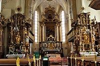 Interior view of church St. Andreas Kitzbühel Tyrol Austria
