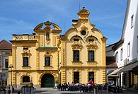 The old baroque pharmacy in Hartberg Styria Austria