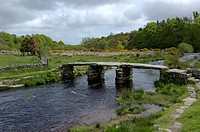 Clapper Bridge Postbridge Dartmoor National Park Devon England