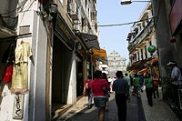 Streets by the Ruins of St. Paul cathedral, Macau