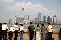 Tourists at The Bund, Shanghai, China