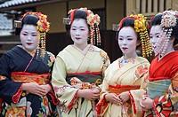 Geishas, Gion area, Kyoto Japan