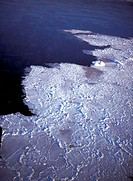 Melting pancake ice, Hudson Bay Canada