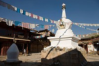 Tibetan stupa in the old city, Shangri_la, Yunnan, China
