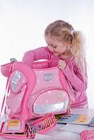 school girl with school bag