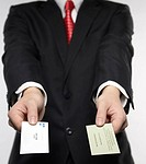 Businessman Exchanging Businesscards