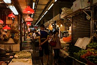People shopping in Tai Kiu Market, Yuen Long, New Territories, Hong Kong