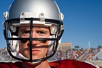 Close up portrait of football player (thumbnail)