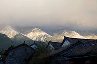 Snow_capped Mt. Cang_shan, Old city of Dali, Yunnan Province, China