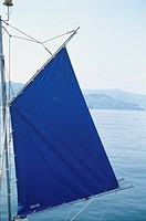 A Blue Flag And The Sea