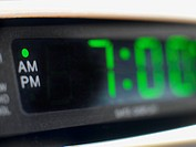 digital alrm clock, close-up