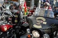 New York City USA, bikers at the Veterans Day parade