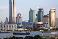 Pudong skyline from Sichuan Road C., Shanghai, P. R. China