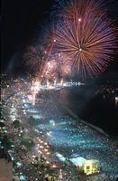 Fireworkses, Copacabana, Rio de Janeiro, Brazil