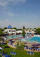 Swimmingpool, Hotel Rogner, Bad Blumau, Steiermark, Austria, thermal resort, architect Friedensreich Hundertwasser