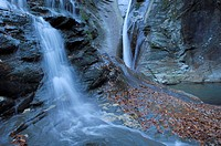 Water fall, Verzasca valley, Canton Tessin, Switzerland