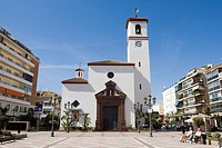 Church, Plaza de la Constitucion, Fuengirola, Costa del Sol, Andalusia, Spain