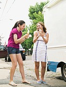 Friends Eating Ice Cream