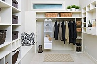 Organized Walk-in Closet
