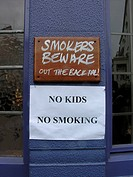 No kids no smoking London UK