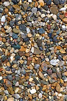 Wet pebble stones