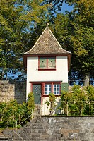 Rapperswil - little house in vineyards above rapperswil - canton of St. Gallen, Switzerland, Europe.