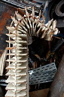 Bent radiator in the scrapyard