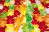 Assortment of gummy bears