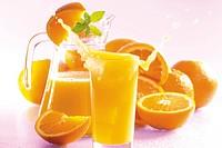 Orange juice, splashing