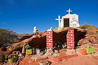 Memorial place of the Difunta Correa, patron saint of the people, north of Árgentina, Argentina, South America