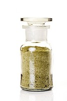 Seasoned salt in a vial