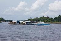 Flotation houses, Amazônia, Manaus, Amazonas, Brazil