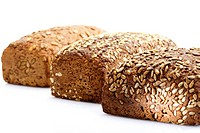 Three kinds of wholegrain bread
