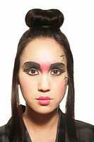 Young Filipino woman sporting a Geisha look
