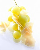 Green grapes and Parmesan shavings