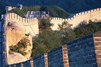 Badalin Great Wall winding through mountains, Beijing, China