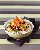 Prawns on fragrant rice