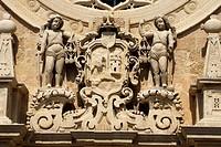 Detail, cathedral facade, Otranto, Apulia, Southern Italy
