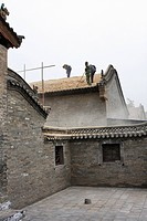 Construction site, the Chang Family Mansion, Shanxi Province, China